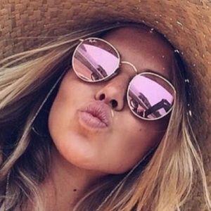e2d4541d79 Accessories - Fashion Pink Round Mirrored Sunglasses